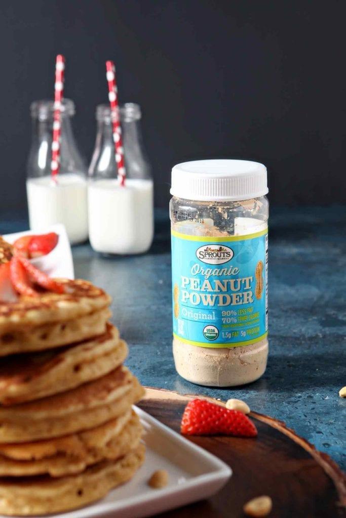 peanut powder in a jar