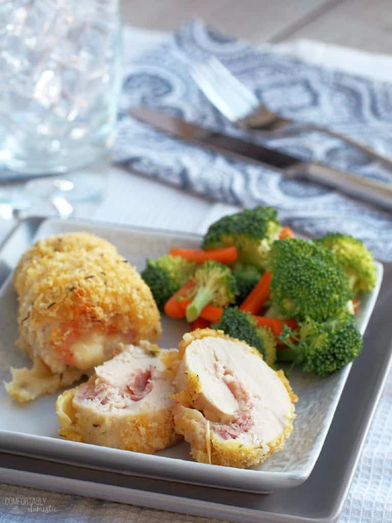 Baked Chicken Cordon Bleu from Comfortably Domestic