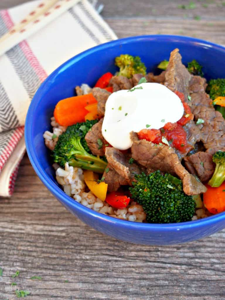 Southwest Steak Stir Fry from Comfortably Domestic