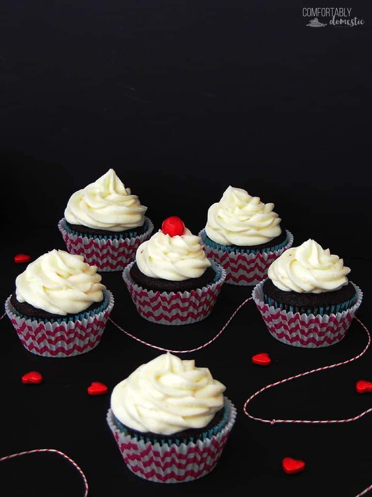Coca Cola (or Dr. Pepper) Cupcakes from Comfortably Domestic
