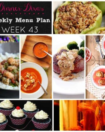 Dinner Divas Weekly Meal Plan 43 at The Speckled Palate