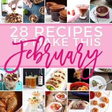 Square recipe collage for 28 Recipes to Make in February 2018