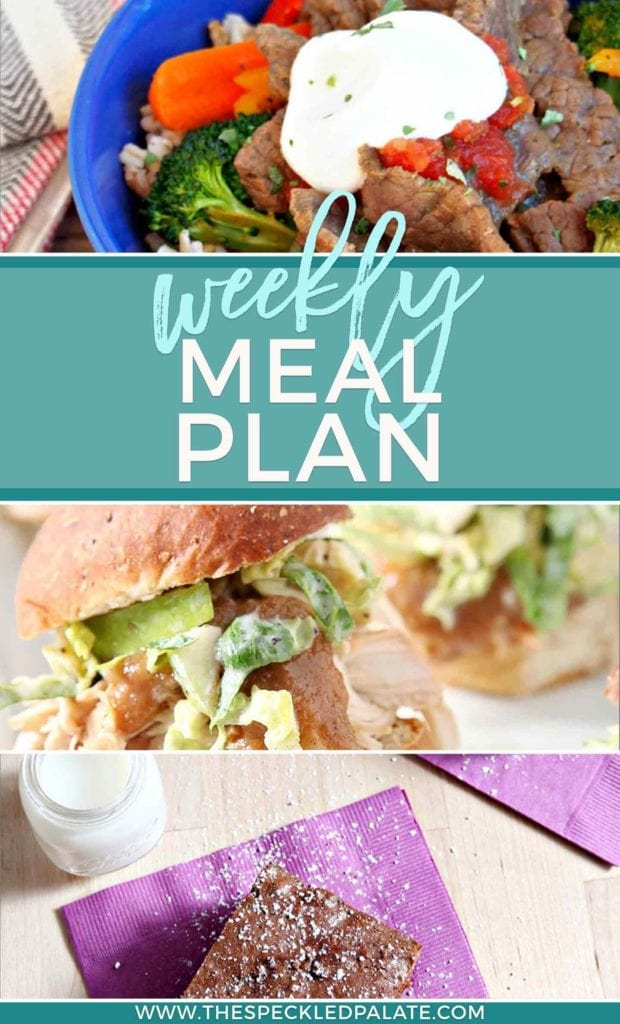 Need food inspiration for next week's menu? Look no farther than the Dinner Divas weekly meal plan, which includes FIVE dinners and two extras recipes. | Weekly Meal Plan | Healthy Meal Plan | Seasonal Meal Plan
