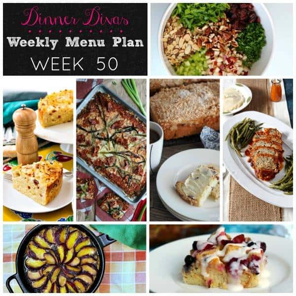 Square Collage for Dinner Divas Weekly Meal Plan 50