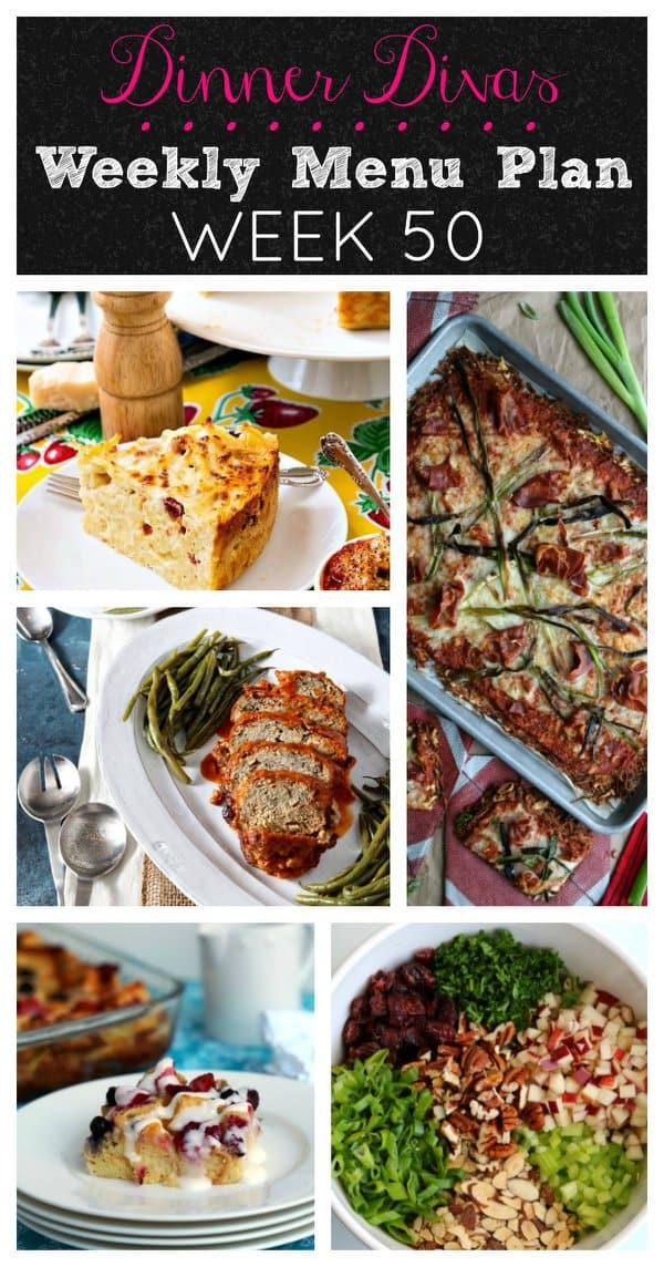 Pinterest Collage for Dinner Divas Weekly Meal Plan 50
