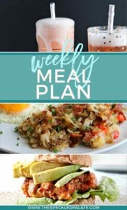 Pinterest collage of three recipes featured in Dinner Divas Weekly Meal Plan 49