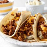 Mashed Potato Chorizo Breakfast Tacos