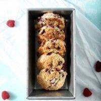 Raspberry Shortcake Biscuits