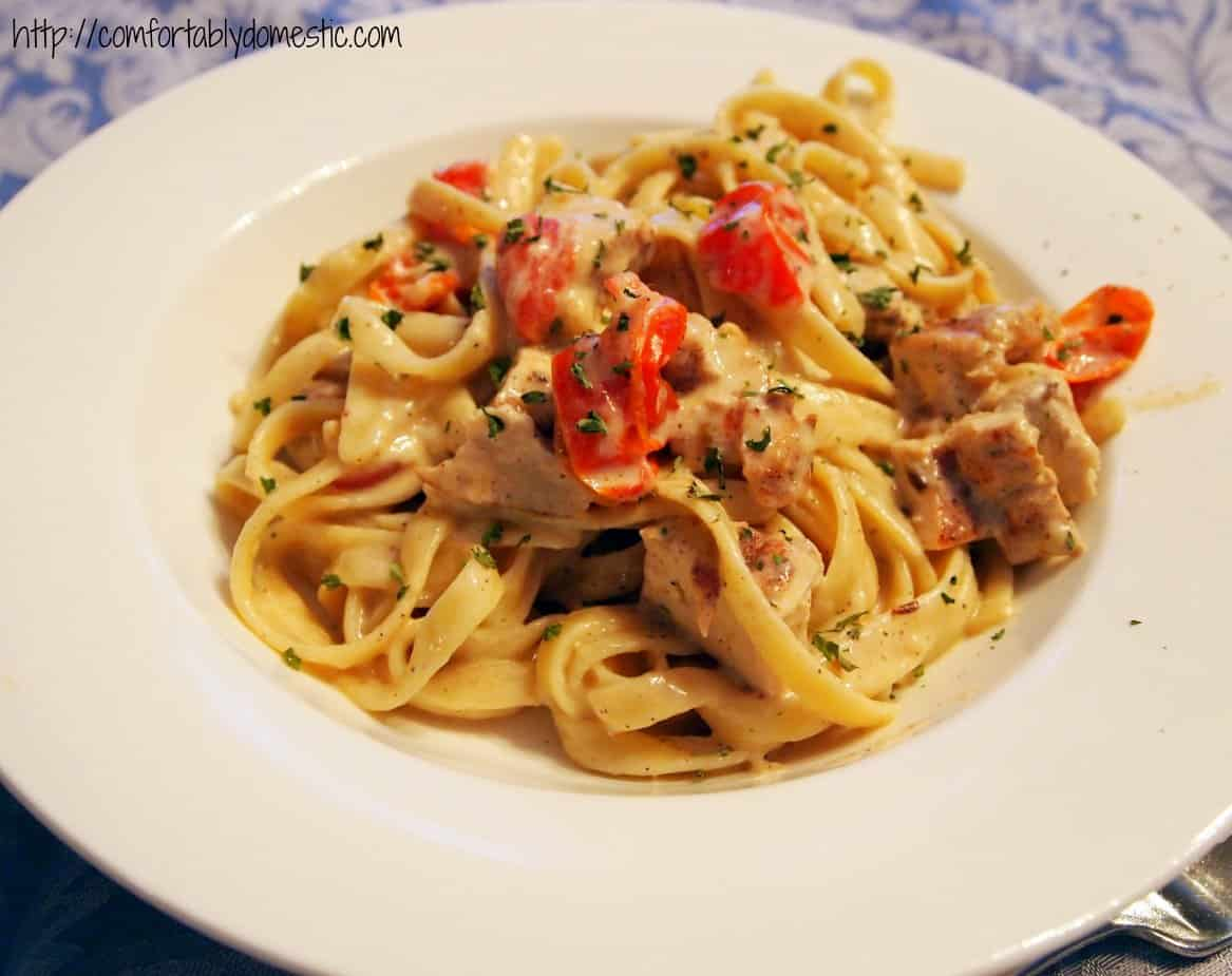 Cajun Chicken Fettuccine Alfredo from Comfortably Domestic