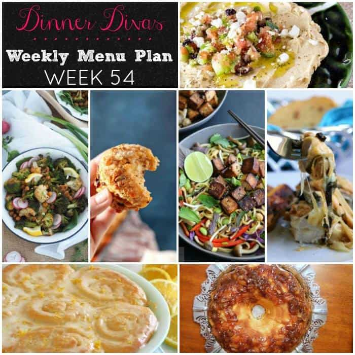 Dinner Divas Weekly Meal Plan 54 Photo Collage