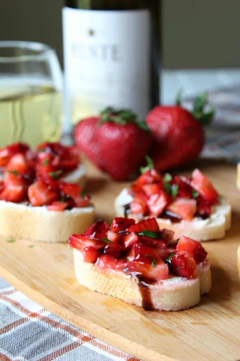 Strawberry Balsamic Bruschetta from Mildly Meandering