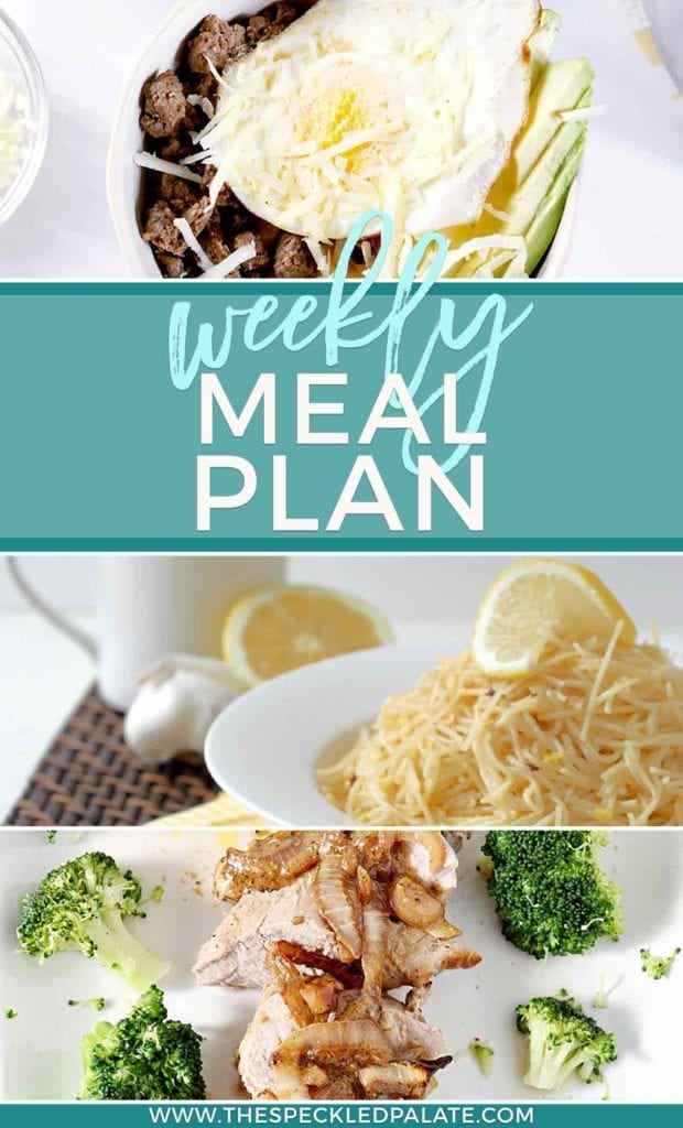 Pinterest collage featuring three images for the Dinner Divas Weekly Meal Plan 51