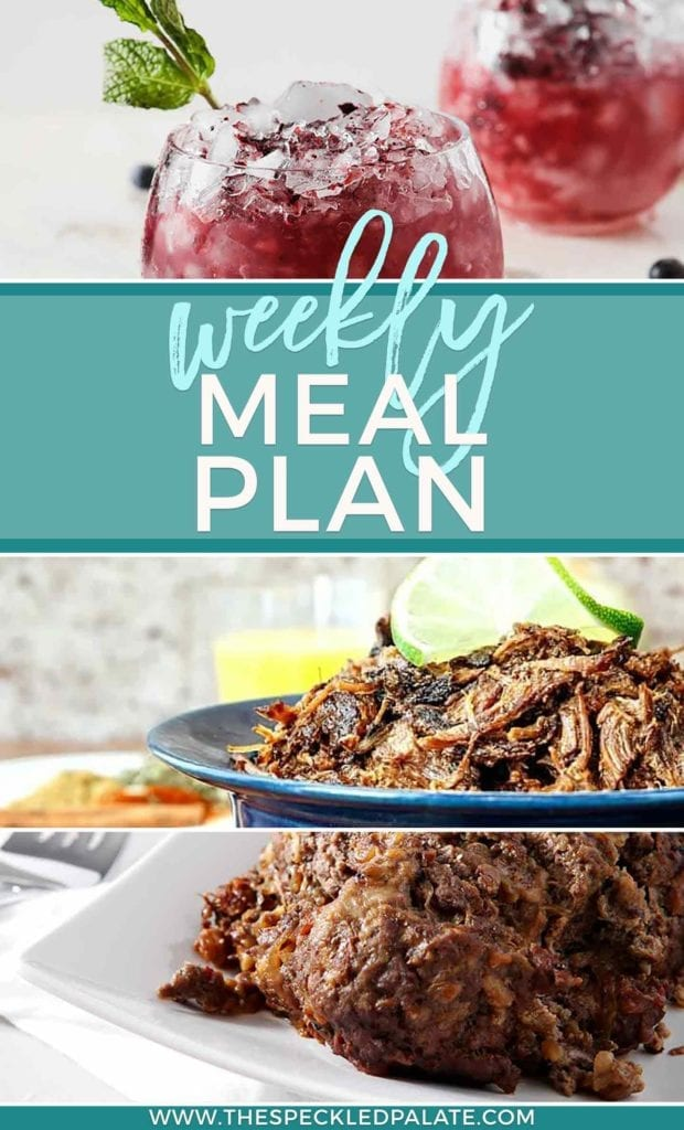 Pinterest collage of Dinner Divas Weekly Meal Plan 53
