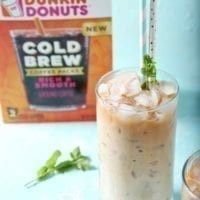 Cold Brew with Homemade Vanilla Mint Creamer