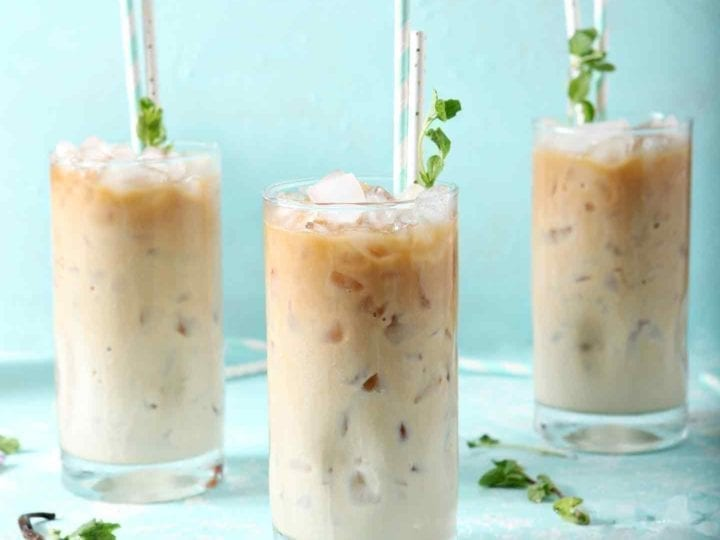 Dunkin' Donuts Cold Brew with Homemade Vanilla Mint Creamer