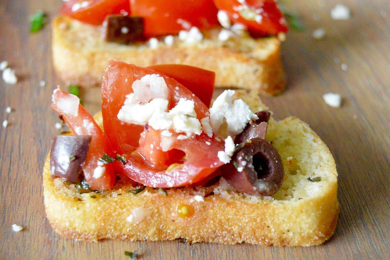 Feta Kalamata Bruschetta (Greek Style) from West via Midwest
