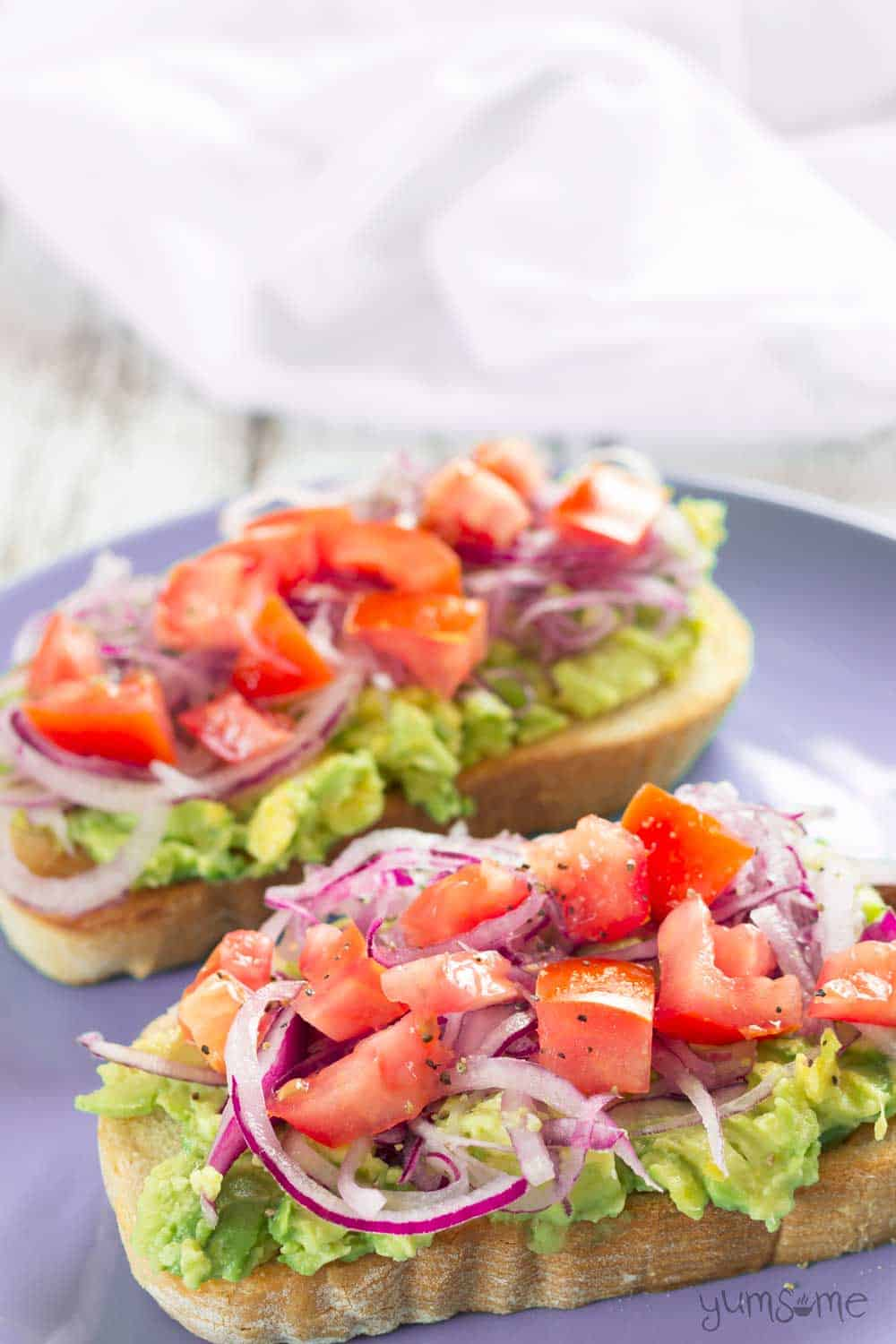 Easy Healthy Avocado Bruschetta from Yumsome