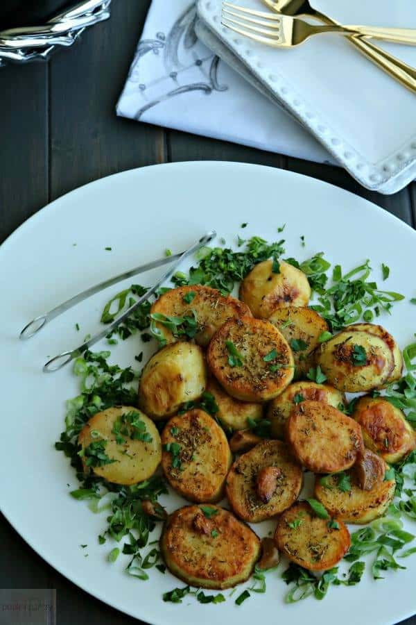 Melting Potatoes with Garlic and Herbs from Pook's Pantry