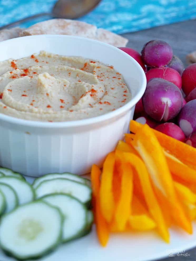 Skinny Hummus from Comfortably Domestic
