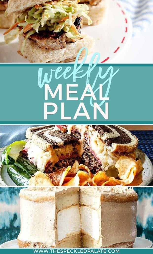 Pinterest graphic for Dinner Divas Weekly Meal Plan 58