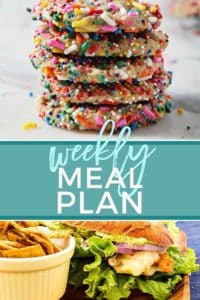 Pinterest collage, featuring two recipes, for Dinner Divas Weekly Meal Plan 60