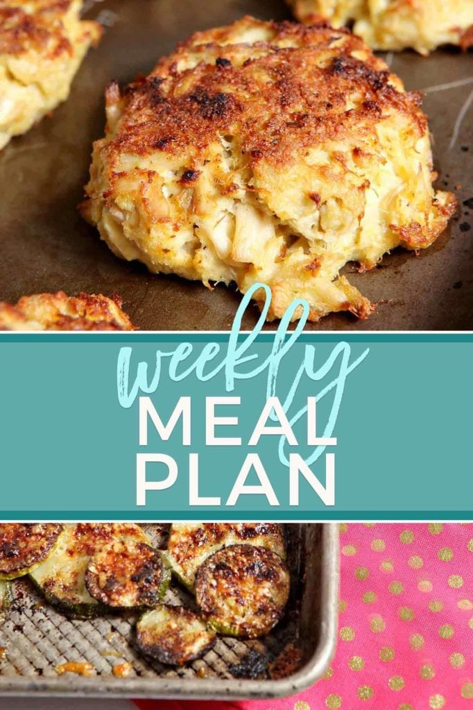 Pinterest collage, featuring two recipes, for Dinner Divas Weekly Meal Plan 61