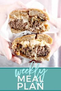 Pinterest graphic for the recipes featured in the Dinner Divas Weekly Meal Plan 62