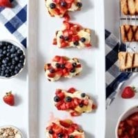 Dessert Option: Patriotic Strawberry Bruschetta