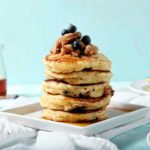 Blueberry Breakfast Sausage Pancakes