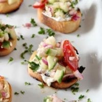 Wednesday's Dinner: Greek Bruschetta