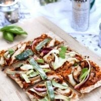 Tuesday's Dinner: Grilled BBQ Chicken Flatbread