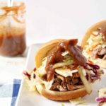 Pear BBQ Pulled Pork Sandwiches with Pear Slaw