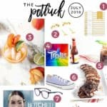 Collage for The Speckled Palate's The Potluck: July 2018, featuring EIGHT favorites from the month