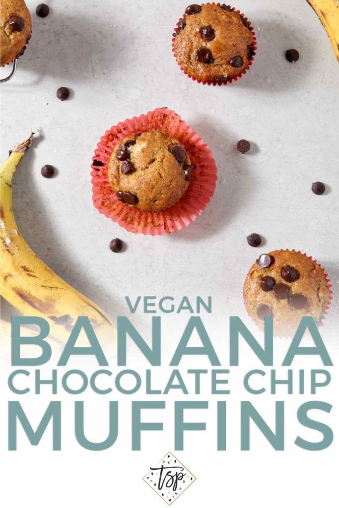 banana chocolate chip muffins pinterest pin