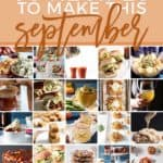 Pinterest collage for Monthly Meal Plan: 30 Recipes to Make in September 2018