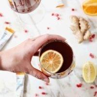 Drink Idea: Pomegranate Ginger Orange Sparkling Mocktail