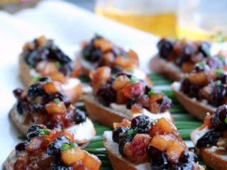 Apple Chutney Bruschetta