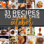 Square graphic for Monthly Meal Plan: 31 Recipes to Make in October 2018