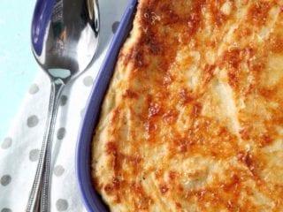 Garlic Parmesan Mashed Potato Casserole