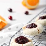Orange Cranberry Cream Cheese Thumbprint Cookies