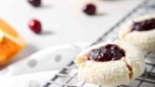 Orange Cranberry Cream Cheese Thumbprint Cookies