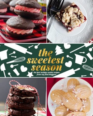 Collage of cookies for holiday season