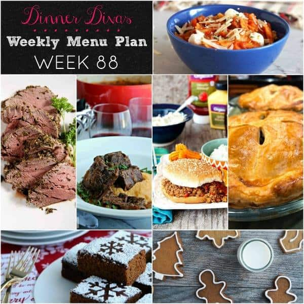 Collage for Dinner Divas Weekly Meal Plan 88, featuring all seven recipes
