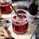 Sparkling Ginger Cranberry Mocktail