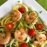 Tuesday's Dinner: Pesto, Shrimp and Zoodles