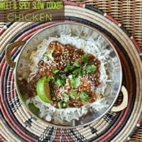 Tuesday's Dinner: Sweet and Spicy Slow Cooker Chicken