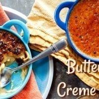 Dessert Option #1: Butterscotch Creme Brûlée