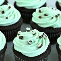 Dessert #1: Devil's Food Cupcakes with Mint Buttercream