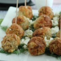 Monday's Dinner: Mediterranean Baked Chicken Meatballs