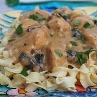 Monday's Dinner: Lighter Chicken Stroganoff